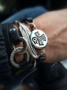Hand of my man❤️ Alex And Ani Charms, My Man, Charmed, Bracelets, Leather, Jewelry, Jewlery, Bijoux, Schmuck
