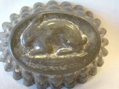 Adorable Little Antique Metal EASTER Chocolate Bunny Rabbit CHOCOLATE MOLD