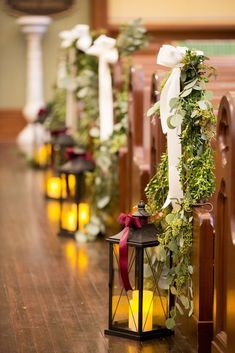 Church wedding ceremony decorations - Anna Schmidt Photography