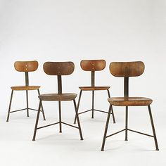 REFERENCE LIBRARY: Four Bauhaus chairs
