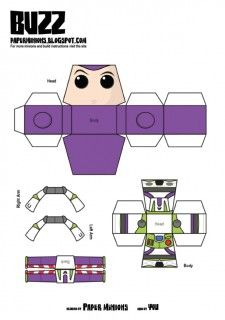 Blog_Paper_Toy_papertoys_Paper_Minions_Buzz_template_preview
