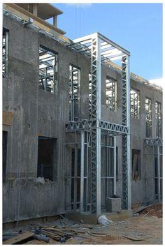 Building Systems, Building Design, Summer House Garden, Home And Garden, Concrete Mix Design, Concrete Formwork, Concrete Structure, Thermal Insulation, Steel Buildings