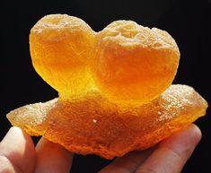 370g New Find Natural Honey Calcite Ball Rare Mineral Specimen / China