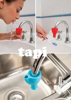 Tudo que eu precisava era de um desses e minha infância teria sido menos traumática! Tapi fountain by http://dreamfarm.com.au/products/tapi/