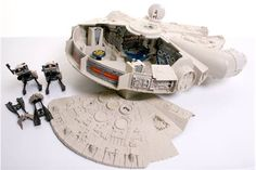 Lot 109 - Selection of Vintage Star Wars Vehiclesincluding Millennium Falcon (missing training ball & top