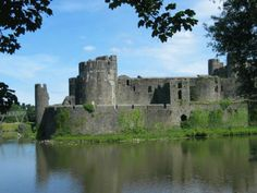 Caerphilly Castle, Wales...my favorite castle