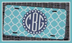 Monogrammed Gifts License Plate Personalized Car by ChicMonogram, $25.00