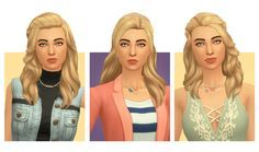 The Sims 4   blogsimplesimmer Separated base game necklaces   CAS accessory female adult
