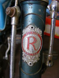 Rival cycle head badge, Norwich England.  EATM, Carlton Colville. by sludgegulper, via Flickr