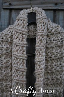 Easy Knit Infinity Scarf Pattern: Mid-December