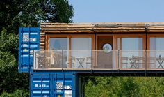 The ContainHotel is a small boutique hotel made out of three repurposed shipping containers that can be easily transported to different locations.
