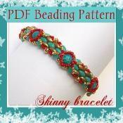 Beading pattern Skinny bracelet  - via @Craftsy