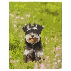 #Miniature Schnauzer Water Color Art Painting Jigsaw Puzzle - #miniature #schnauzer #puppy #schnauzers #dog #dogs #pet #pets #cute #miniatureschnauzer