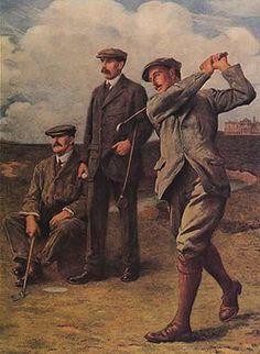 Campo de Golfe - Jogadores - Poster Vintage