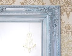 ANY COLOR Silver Teal Blue Framed Baroque by RevivedVintage, $189.00