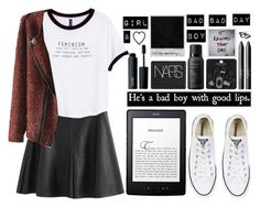 """Bad Boy. Good Lips."" by regina20-2002 ❤ liked on Polyvore featuring H&M, Converse, MAC Cosmetics, NARS Cosmetics, Topshop, Living Proof and Polaroid"