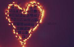 Heart shaped Christmas light