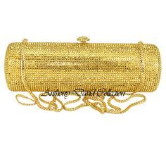 0f9da2bd61c Anthony David Handbag with Swarovski Crystal - 24 Karat Gold Beautiful  Handbags, Clutch Purse,