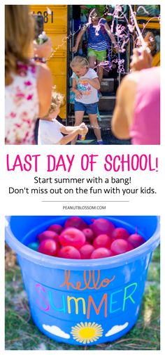 5 must-do ideas for a last day of school ideas for celebrating with your kids. Fun ways to kick-start summer with a bang. #lastdayofschool #summervacation #kidparties