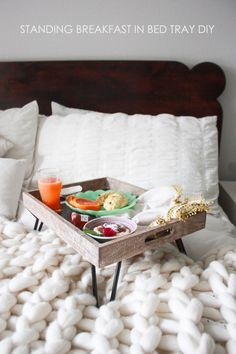 Breakfast Trays For Bed Magnificent Diy Bed Tray  Mommy Lifestyle Group Board  Pinterest  Bed Inspiration