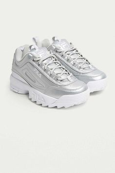 "Slide View: 2: Fila – Premium-Sneaker ""Disruptor II"" in Silber-Metallic"
