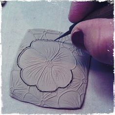 Marsha Neal Studio Blog: Studio Insight - Making Cutout Flower Pendants... Could be used for polymer clay.