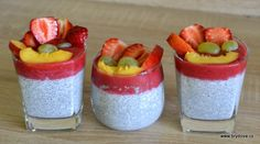 Chia Puding, No Bake Cake, Smoothie, Panna Cotta, Vegan Recipes, Cheesecake, Paleo, Food And Drink, Pudding