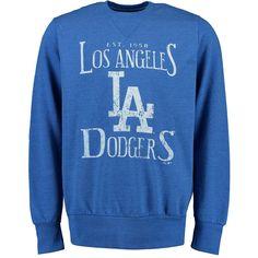 Los Angeles Dodgers Majestic Threads Established Tri-Blend Sweatshirt - Royal - $27.99