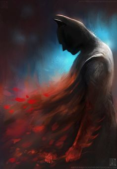 Batman Character Artist Interpretation -Not for a tattoo but maybe paint for my hubby for xmas!!! CB