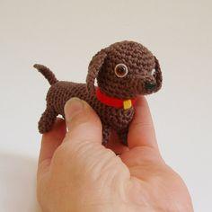 dachshund crochet pattern pdf. $5.00, via Etsy.