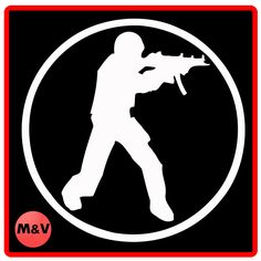 Counter Strike Stickers X2, Laptop/Xbox/Ps4.