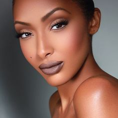 "She is stunning and I love that lip colour. "" Guyanese model Olayinka Noel """