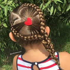 Long braids with hearty touch