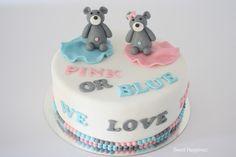 Gender Reveal Cake: Pink or Blue... We Love You
