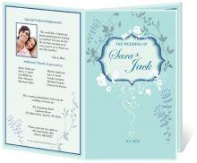 Lovely FloralVines Single Fold DIY Printable Wedding Program Templates