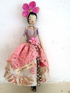 I'm a big girl but I really want one of Magpie and Wardrobes peg dolls! Fairy Miss Madder Rose