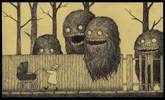 Un artista disegna i suoi brutti sogni d'infanzia su post-it   Darlin Magazine