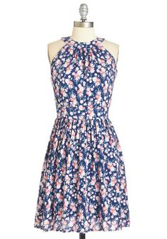 e06ea158ce All Abloom Dress. Showcase your enthusiasm for all things floral in this  navy-blue