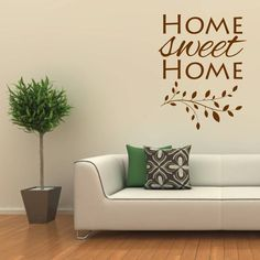 Home Sweet Home Branch Wall Sticker from notonthehighstreet.com