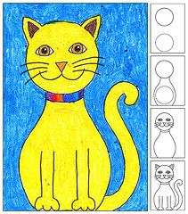 How to Draw a Happy Cat