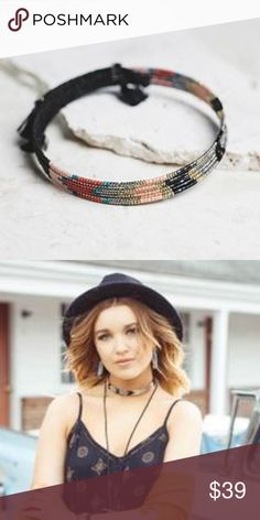 Tulum Choker - Only 1 Available Hand beaded choker in shaded of black, gold, coral, and turquoise Small tassel detail completes the look A fun statement piece!   Proceeds from every purchase go toward a women's charity that is striving to improve women's lives every day.  Price is firm unless bundled. Jewelry Necklaces