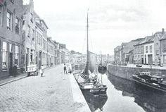 Havengezicht te 's Hertogenbosch. Links de Breede, rechts de Smalle Haven