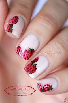 """Sezon na truskawki rozpoczęty! Truskawkowy manicure czas zacząć! Sprawdź jakie kolorki mamy dla Ciebie - <a href=""""https://www.neonail.pl/katalog/zele-hybrydowe-uv/?utm_source=social&utm_medium=pinterest"""">LAKIERY HYBRYDOWE NEONAIL</a> !! Strawberry Nails Ideas For Summer 2018"""