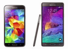 Samsung Galaxy S5 vs Samsung Galaxy Note 4 comparison