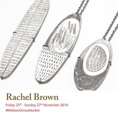 Join Rachel Brown at the and see her white enamel and graphite silver and copper The surface of each piece is hand drawn to produce a one off item. Rachel Brown, Christmas Shopping, Christmas Art, White Enamel, Art Market, How To Draw Hands, Slip On, Jewellery, Graphite