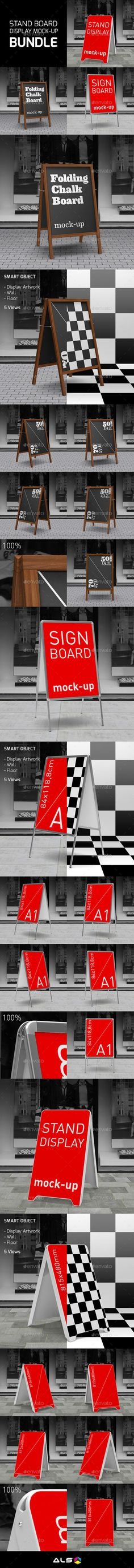 Sign Boards Display Mock-Up - Posters Print