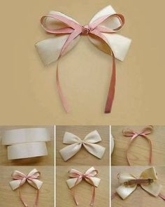 Best 12 I had no idea how to make bows before this. Super clear, step-by-step directions and pictures. Ribbon Hair Bows, Diy Hair Bows, Diy Ribbon, Ribbon Crafts, Diy Arts And Crafts, Diy Crafts, Hair Bow Tutorial, Making Hair Bows, Diy Bow