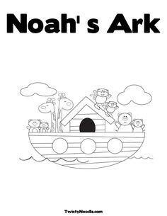 Noahs Ark Coloring Book Page For Kids   Kiboomu