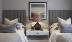 Twin beds for a guest room can make a chic change from a double bed: