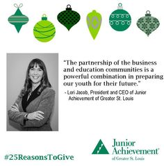 Reason #9: #JA partners the #education and #business communities to help #kids #succeed. http://www.fundJA.org/